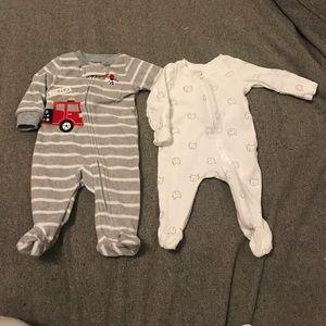Other - Newborn Zip Footie Pajamas - Baby Gap and Carter's